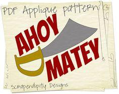 Pirate Applique pattern