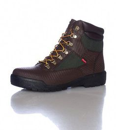 944e307032062a TIMBERLAND Men's 6 inch boot Genuine Helcor Leather Carbon fiber design  Brown