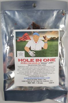 Hole In One Jerky - Sriracha Garlic beef jerky review. http://jerkyingredients.com/2016/12/03/hole-one-jerky-sriracha-garlic-beef-jerky/ @HoleInOneJerky #holeinonejerky #beefjerky #review #food #jerky #ingredients #jerkyingredients #jerkyreview #beef #paleo #paleofood #snack #protein #snackfood #foodreview #garlic #sriracha #srirachagarlic #garlicjerky #srirachajerky
