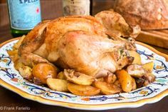 Pollo arrosto ripeno (Angelina's Roasted Chicken with Sausage Stuffing) | Memorie di Angelina