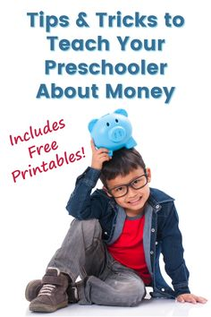 Tips on teaching kids about money and free printables!