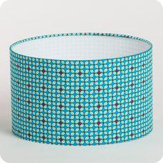 Abat-jour / suspension cylindrique en tissu Petit Pan motif H