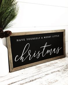 Excited to share this item from my shop: Have Yourself a Merry Little Christmas, Merry Christmas Sign, Wood Christmas Signs, Holiday Decor, Farmhouse Decor, Christmas Wall Decor. Click to shop more holiday decor signs! #homedecor #christmas #charlieandpine #christmasdecor #holidaydecor #modernfarmhouse #farmhousesign #farmhousedecor