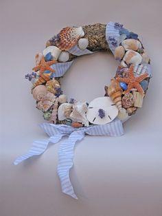Seashell by the Seashore Wreath by spiffyspooner on Etsy