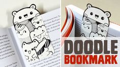 DIY ~ Mini Doodle Bookmark | www.youtube.com/piccandle