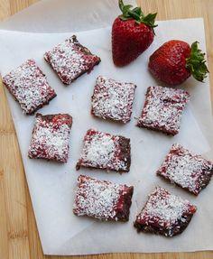 Strawberry Chia Date Bars