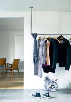 Garderobe aus Rohren: cool!