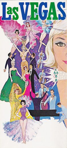 Vintage Las Vegas Travel Brochure, 1960 ~  showgirls