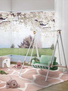 Swing to spring with our BOOBOO Swing and fall in love with its neo mint color, prefect for kids rooms.