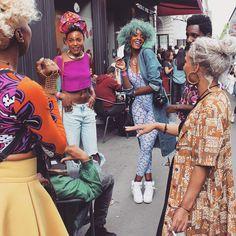 theglossier:  leatik:  #AFROPUNK #Paris  <3  BGKI - the #1 website to view fashionable & stylish black girls shopBGKI today