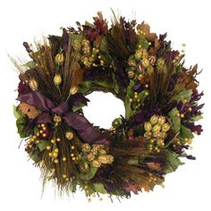 Add welcoming warmth to your home with this autumn-inspired wreath, crafted with preserved leaves for natural style.      Product: