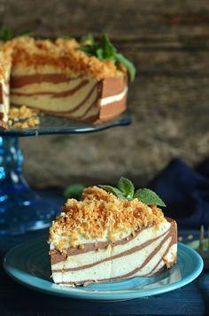 sernik nazimno - zebra Sweet Recipes, Cake Recipes, 20 Birthday Cake, Amazing Food Photography, Marijuana Recipes, Food Cakes, Cheesecakes, Sweet Tooth, Food And Drink