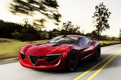 2013 Alfa Romeo 6C super car, Hot!