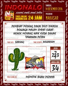 Kodal Lotre 4D Togel Wap Online Live Draw 4D Indonalo Makassar 14 Desember 2016