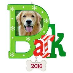 Dog Bark Photo Holder Ornament