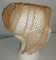 1860s Straw Spoon Bonnets | eBay fiddybee (This is not a spoon bonnet, appears to be earlier)