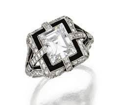 Resultado de imagen para art nouveau diamond baguette ring