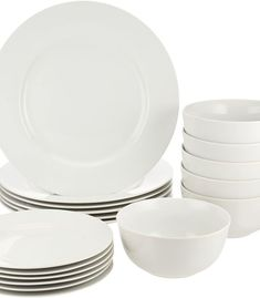 (This is an affiliate pin) AmazonBasics 18 Piece Dinnerware Set Service