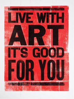 Live With Art - Mikey Burton / Designy Illustration