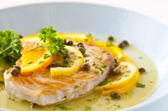 I have to make this --> Fish with Citrus Caper Sauce via @steamykitchen