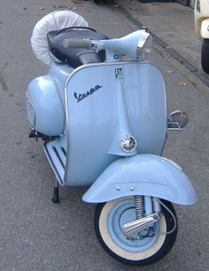 """The Vespa is a line of scooters patented on April 1946 by the company Piaggio Co, S. The name Vespa, which means """"wasp"""" in Italian, was chosen by Enrico Piaggio. Vespa Ape, Lambretta Scooter, Vespa Scooters, Piaggio Vespa, Triumph Motorcycles, Vintage Motorcycles, Custom Motorcycles, Vespa Motor, Motor Scooters"""