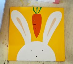 Rabbit. Acrylic in canvas. By Ehses