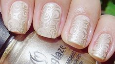 Wedding manicure, bride nails, nude (www.NeoNail.pl www.facebook.pl/NeoNailPL)