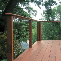 More cable rail examples  this material allows for view, more than log would...