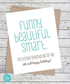 Funny Friend Birthday Card by FlairandPaper on Etsy