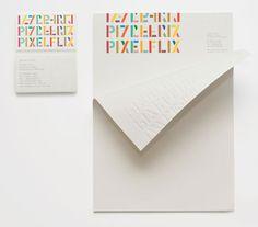 Pixelflix / stationary by A Friend of Mine. via Miss Moss. #stationary
