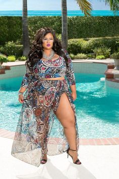 2f641b980 50% Off Sale - Final Sale Plus Size 2 Piece Tribal Crop Top with Skirt in  Navy Blue
