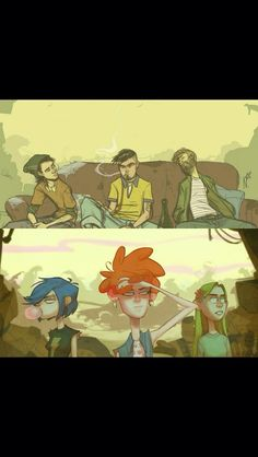 Ed, Edd, and Eddy all grown up! - Imgur
