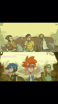 Ed, Edd, and Eddy all grown up! - Imgur