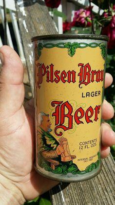 Pilsen Brau Beer Can Pre War Indoor | eBay