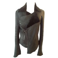Helmut Lang Shearling Jacket, Size S in Clothing, Shoes & Accessories, Women's Clothing, Coats & Jackets | eBay