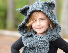 CROCHET PATTERN - Lyna Lynx Hood (Toddler, Child, Teen, Adult sizes)