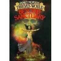 BEYOND SANCTUARY (Thieves' World) by Janet Morris, http://www.amazon.com/dp/0671559575/ref=cm_sw_r_pi_dp_IlSUpb089B9JP