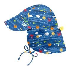 Shop our i play.® by green sprouts® Flap Sun Protection Hats! UPF sun protection covers face, neck and shoulders. Toddler Sun Hat, Baby Sun Hat, Baby Hats, Baby Boy, Sun Protection Hat, Flap Hat, Jungle Print, 6 Mo, Baby Grows