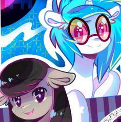 Octavia and Vinyl Scratch