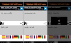 Con TraductorVirtual puedes hablar con otra persona, cada una en su propio idioma, mientras la aplicación se ocupa de traducir y hablar los mensajes.
