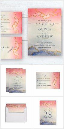 Ombre Watercolor Wedding Collection