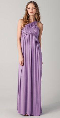 Lavender long bridesmaid dress. Beautiful. Would buy it for myself if it were a lot less expensive!!