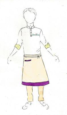 uniforme garçom para Amelie Creperie