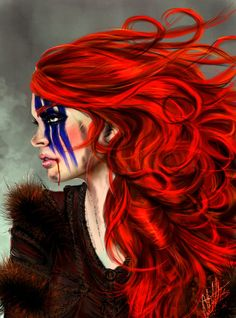 I figured a wee look through some GoT fan art might yield some cool barbarian pics - love this pic of Ygritte by *I-Andreea-I on deviantART