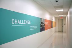 Actavis environmental branding in employee-centric hallway.
