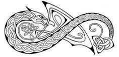 exohuman | simple-celtic-dragon-tattoo
