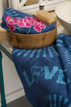 Wash yourself with love with these beautiful, soft hand towels and face clothes from Desigual. The best beauty product you need this season is a simple one: love!