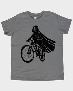 Darth Vader Is Riding It - Toddler / Youth American Apparel T-shirt ( Star Wars tshirt )