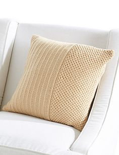 Richly detailed, this pillow is the perfect accent to your holiday home decor. Knit in Caron Simply Holiday or Simply Soft yarn, this pillow is easy to work up - a perfect gift for anyone on your list!
