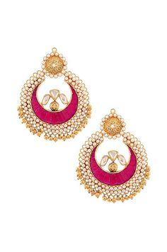 Gold and pearl Amrapali earrings.